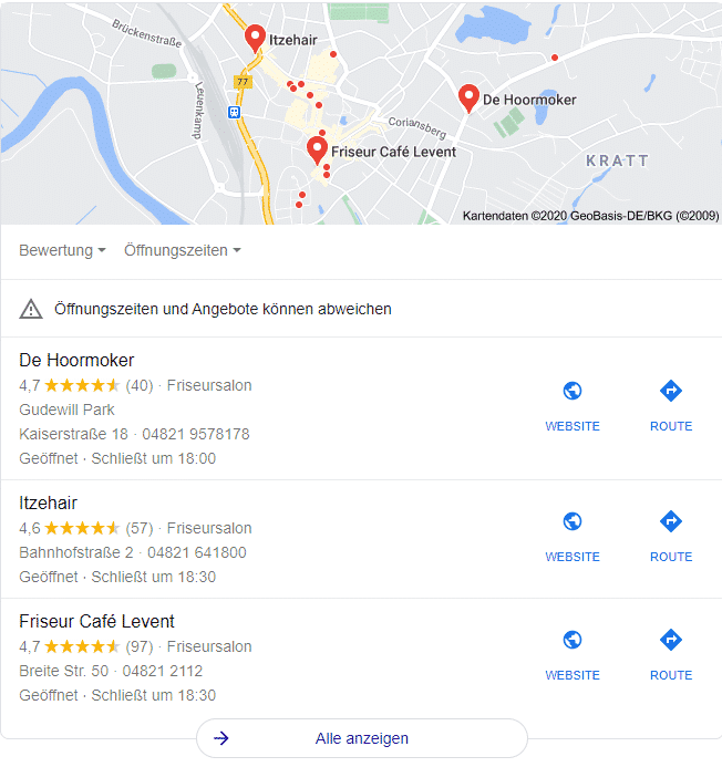 GoogleMyBusiness Optimierung als Local SEO Agentur