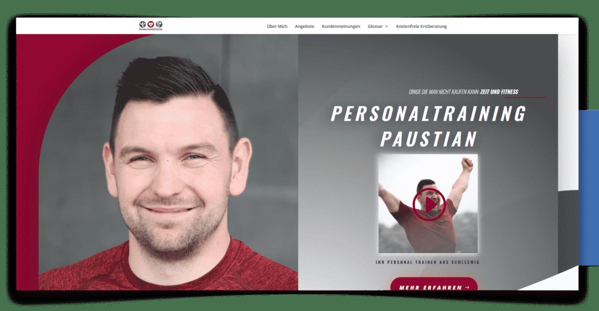 Webdesign und SEO für den Personaltrainer Paustian